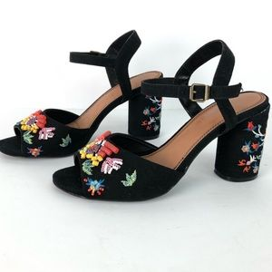 Rampage beaded and embroidered heels